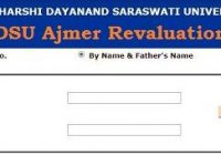 MDSU Ajmer Revaluation Result 2019
