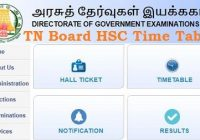 TN Board HSC Time Table 2020