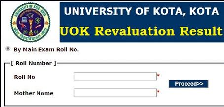 UOK Revaluation Result 2019