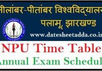 Nilamber Pitamber University Exam Schedule 2020