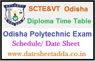 SCTEVT Diploma Time Table 2020