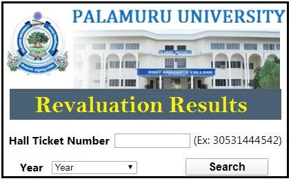 Palamuru University Revaluation Result 2020